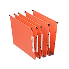 Esselte Dual Lateral Suspension Files, A4, V-Base, Pack of 25 Connectable Files, Tabs Included, Orange, Orgarex Range