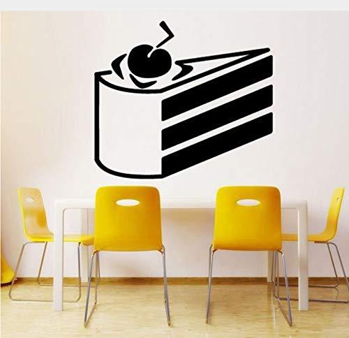 Mrlwy Kuchen Kuchen Tapete Kunst Decals Shop Restaurant Hintergrund Vinyl Wasserdichte Aufkleber Küche Zimmer Süße Wohnkultur Aufkleber 47X42 Cm
