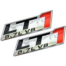 2 CHEVY CAMARO CORVETTE LT1 LS1 5.7L ENGINE EMBLEM PAIR