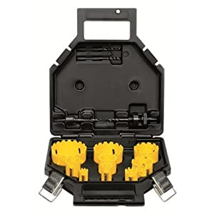 41NCnevT90L. SS300  - Dewalt Juego de Coronas de Metal Duro DT8278-QZ-(13 Piezas) para fontaneros, en maletín