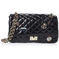Zeneve London Womens Crossbody Bag, Black - 1191830512