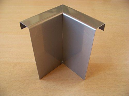 Rasenkante Beeteinfassung aus Edelstahl V2A, Kiesleiste 3 Stück 90° Innenecke
