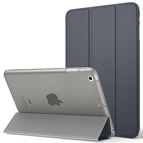 Generation 1. Ipad Mini Fällen (MoKo Hülle für iPad Mini 3 / 2 / 1 - Ultra Slim Lightweight Smart Cover mit Durchschaubar Rückseite Schutzhülle und Auto Schlaf / Wach Funktion für Apple iPad Mini 3 / 2 / 1. Generation, Space Grau)