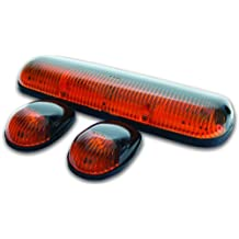Pacer Performance 20-253 Hi-Five Amber Chevy Style Cab Roof LED Light Kit, (Pack of 3)