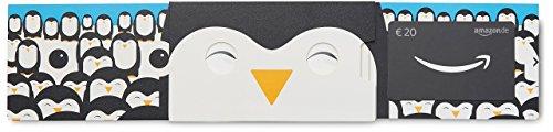 Amazon.de Geschenkkarte in Geschenkschuber - 20 EUR (Fröhlicher Pinguin)