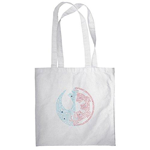 Texlab–suddivisa Galaxie–sacchetto di stoffa Bianco