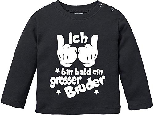 Brüder-kleidung (EZYshirt Ich Bin Bald ein Grosser Bruder Baby T-Shirt Longsleeve)