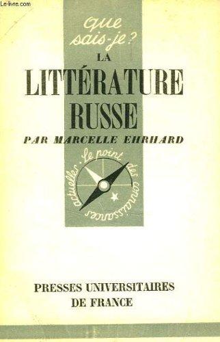 La litterature russe (Que sais-je ?  N° 290)