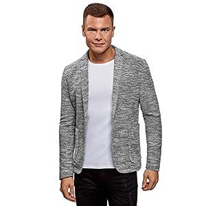 oodji Ultra Herren Jersey-Blazer mit Aufgesetzten Seitentaschen