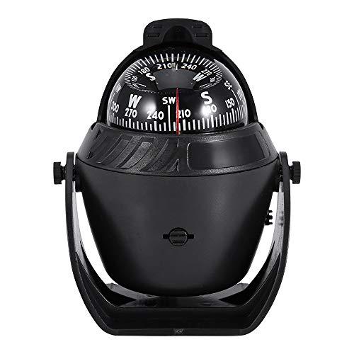 ZJY Multifunktions-LED-Kompass für Marineschiffswagen mit einstellbarem Winkel und Abweichungskorrektur - Ideal für Outdoor-Ausrüstung - für die meisten Flach- und Kombiwagen -