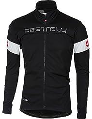 Castelli–Chaqueta de ciclismo, blanco y negro