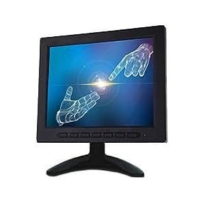 KKmoon Monitor Schermo 8 Pollici TFT LCD a Colori Schermo Video Monitor VGA BNC AV Ingresso per PC CCTV Sicurezza Remoto e Stand e Rotazione Schermo