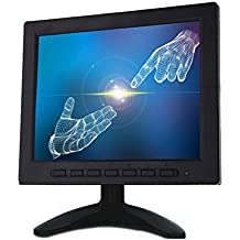 "KKmoon 8"" Monitor TFT LCD Pantalla Entrada BNC Soporte VGA y AV Vídeo para CCTV Sistema de Vigilancia Seguridad Hogar Multilenguaje"
