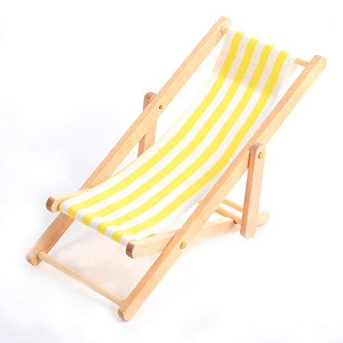 Krystallove Mini Puppenhaus Zubehör - Puppenhausmöbel - Einrichtungsgegenstände Einrichtungsgegenstände Strandstuhl - Faltbarer Liegestuhl
