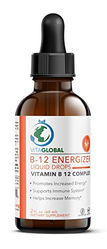 Vitamin B12 Sublingual Drops - B Complex Liquid - Increase Energy, Metabolism and Mental Health - Better Solubility Faster Absorption - Non GMO, Sugar, Gluten, Dairy Free -