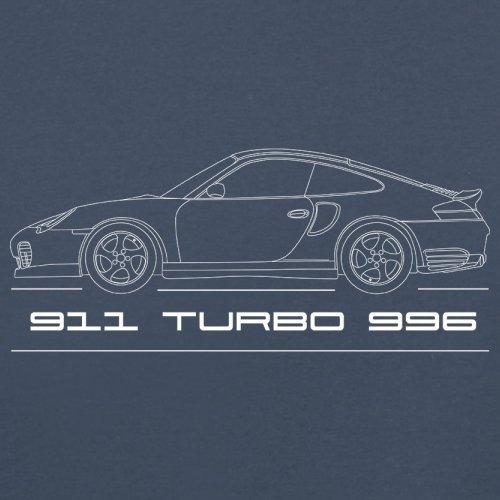 Seitenansicht Porsche 911 Turbo 996 (2001 - 2005) - Unisex Pullover/Sweatshirt - 8 Farben Navy