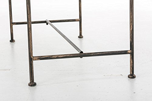 CLP Gartenbank JAMEE im Landhausstil, Eisen lackiert, ca. 130 x 45 cm Bronze - 9