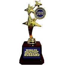 YaYa Cafe™ Valentine Gifts for Husband World Greatest Husband Award Trophy Award - Star Golden