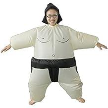 LaoZan Traje inflable Traje de Adulto de Sumo Disfraz de sumo hinchable Niño