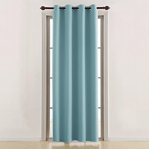 Deconovo tende oscuranti termiche isolanti tende da sole con occhielli per casa moderna 140x290 cm blu chiaro 1 pannello