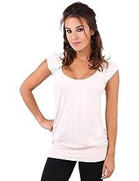 KRISP® Women Basic Jersey T Shirt Loose Casual Blouse Spring Tops