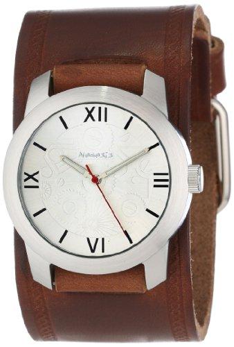 Nemesis BHST068S - Reloj de pulsera hombre, piel, color Marrón