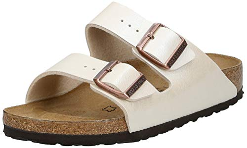 BIRKENSTOCK Damen Arizona 1009921 Sandalen, Weiß (Marron Graceful Pearl White Marron Graceful Pearl White), 37 EU