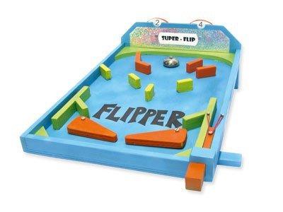 matches21 Tisch Flipper Flipperautomat als Holz Bausatz f. Kinder Werkset Bastelset ab 12 Jahren