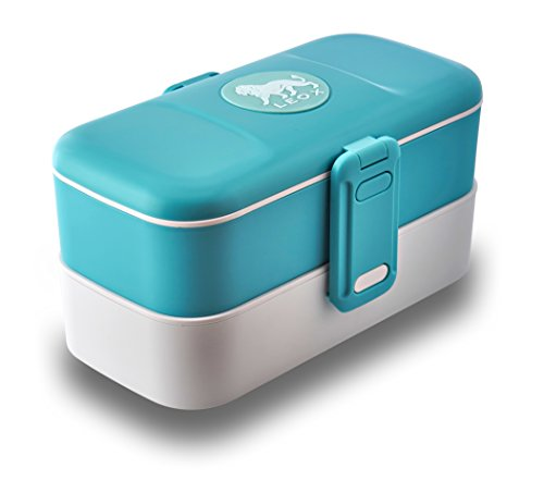Leox de–Tartera con dos compartimentos Bento Box–Fiambrera...