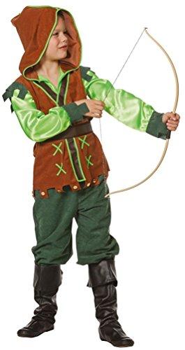 obin Hood Kostüm Kinder Jungen Kinder-Kostüm Räuber Mittelalter Bogenschütze Größe 152 (Robin Halloween-kostüm Für Kinder)