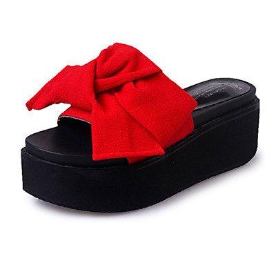 Women's Boots Herbst Winter Komfort PU-Dress Casual Ferse Rei?verschlu? Schn¨¹rung Schwarz Braun Burgund US8 / EU39 / UK6 / CN39