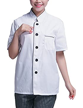 Zhuhaitf Alta calidad Unisex Modern Short Sleeve Work Clothes Classic Chef Uniform