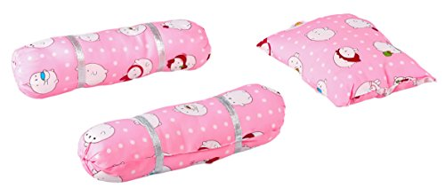 Baybee Baby Pillow and Bolster Set (Pink) (Pink)