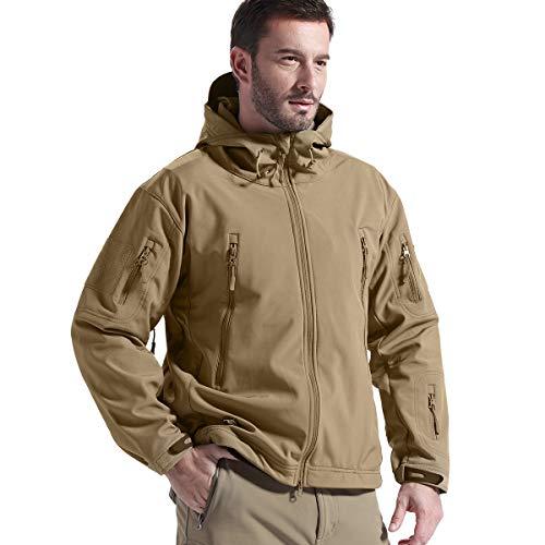 FREE SOLDIER Gratis Soldier Herren Jacken Outdoor Wasserdicht Softshell Hooded Tactical Jacket Hooded Warm Up Jacket