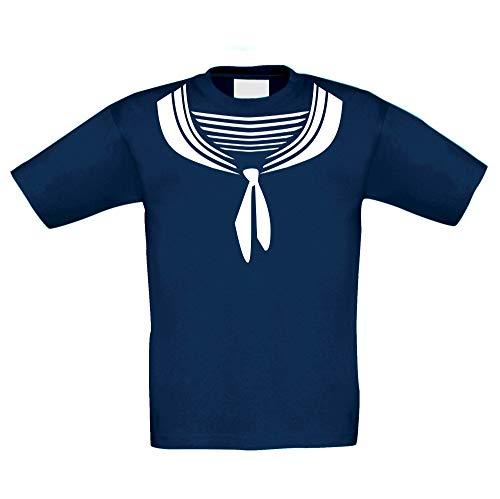 Shirtdeparment - Kinder T-Shirt - Matrose dunkelblau-Weiss ()