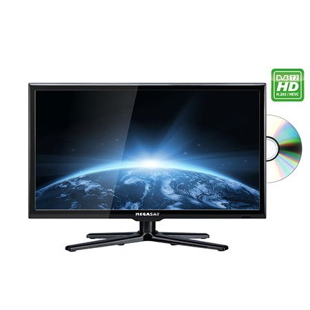 'Megasat - Camping LED TV Linie 24 Royal Deluxe, 59,9 cm (23,6), Triple Tuner, DVD, Bluetooth, H.265/HEVC -