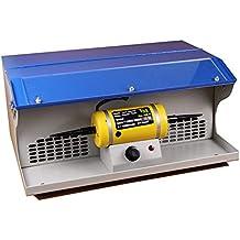 Vogvigo Máquina pulidora de escritorio con máquina pulidora ligera con colector de polvo Banco de herramientas