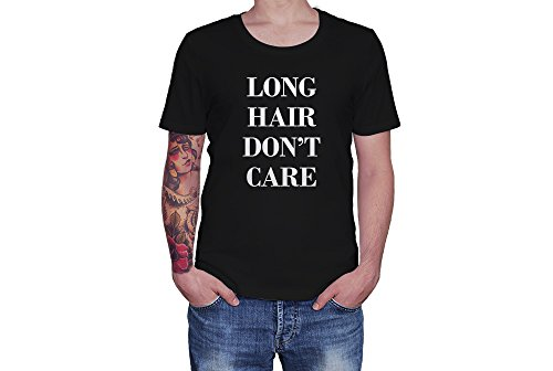Long Hair Don't Care - Fashion Attitude - Novelty Gift - Custom Unisex Adult Tshirt