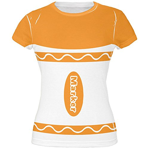 Halloween-Marker Kostüm Orange aller Junioren T Shirt Multicoloured