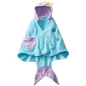 Kidorable - Toalla con capucha para niñas con cola de pescado y conchas 5