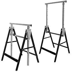 Kather 2 X Heavy Duty Telescopic Adjustable Trestle Builders Carpenter Work Bench Saw Horse Folding Tools