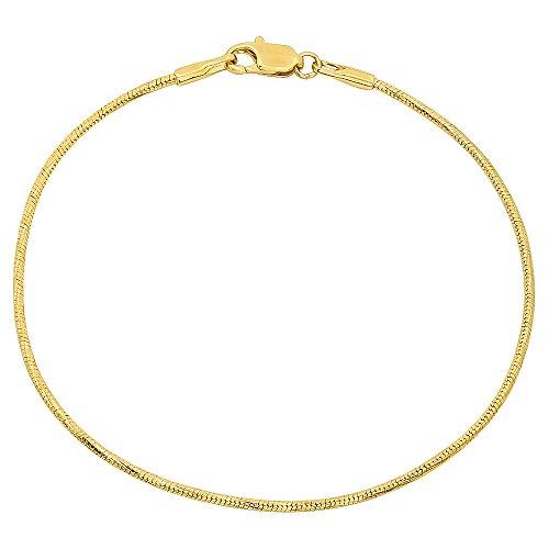 (1,5mm 14K vergoldet Schlange Armband)