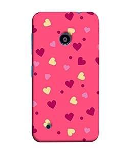 Fuson Designer Back Case Cover for Nokia Lumia 530 :: Nokia Lumia 530 RM 1017 :: Nokia Lumia 530 Dual SIM :: Microsoft Lumia 530 Dual (Hearts Spades Coffee Red Love )
