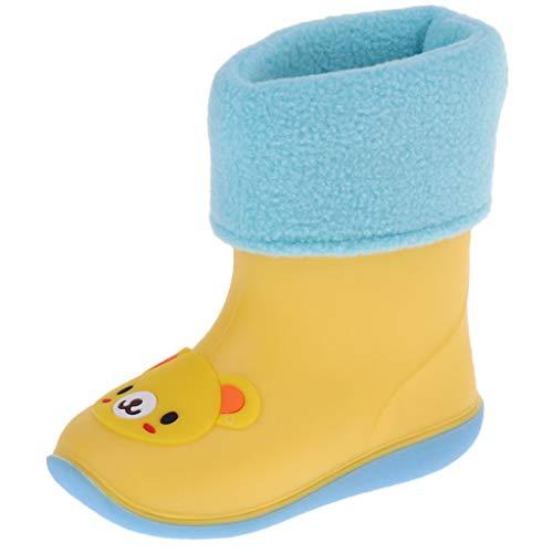 P Prettyia Wellies Unisex Kids Rain Rainy Snow Boots Shoes Socks Children Baby Boy Girl