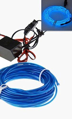 1x BLAU (3 Meter) EL - AMBIENTEBELEUCHTUNG 12V Inverter/Adapter Lichtleisten Strip Band Licht Ambiente Beleuchtung für moderner Innenraumbeleuchtung edle Optik - hallenwerk