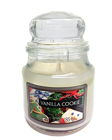Candle-lite Vanilla Cookie Scented Candle in Bubble Lid Jar by Candlelite