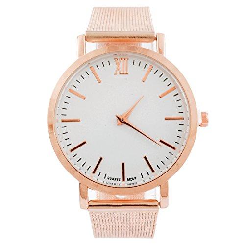 Souarts Damen Armbanduhr Einfacher Stil Quraz Deko Uhr mit Batterie Charm Geschenk