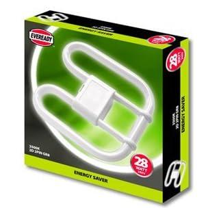 10 x Eveready 28w 4 Pin 2D Compact Fluorescent Light Bulb