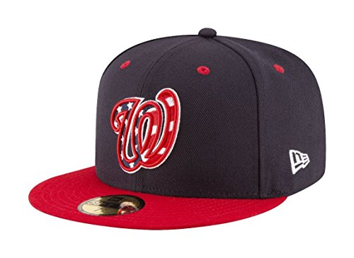 New Era Washington Nationals Authentic On-Field 59FIFTY Fitted MLB Cap ALT 4, 7 1/4 (59fifty Nationals)