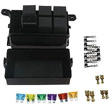 D2D - Caja de fusibles para Coche, 6 relés, 5 relés de Carretera y